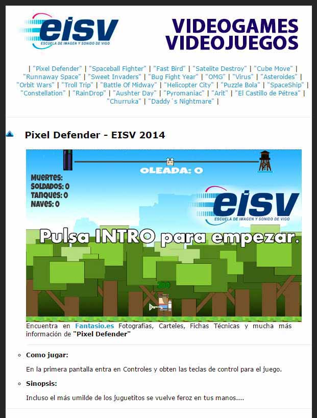 EISV Videojuegos Online