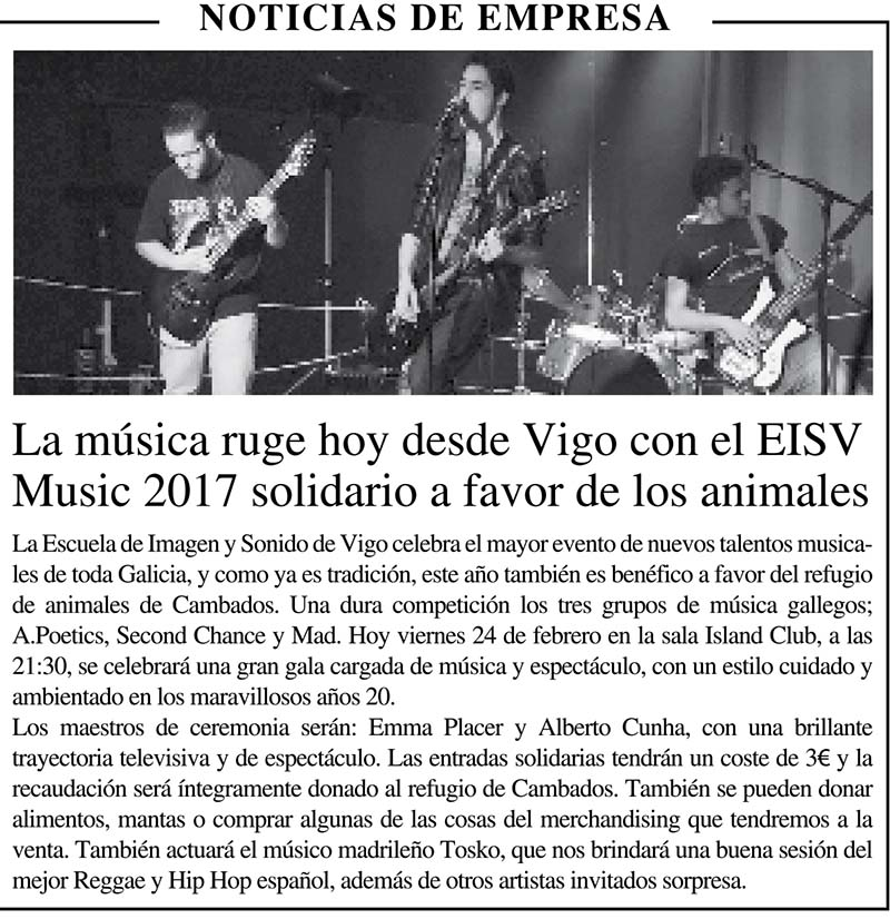 EISVMUSIC Solidario 2017