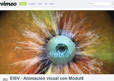animación visual con modulo8