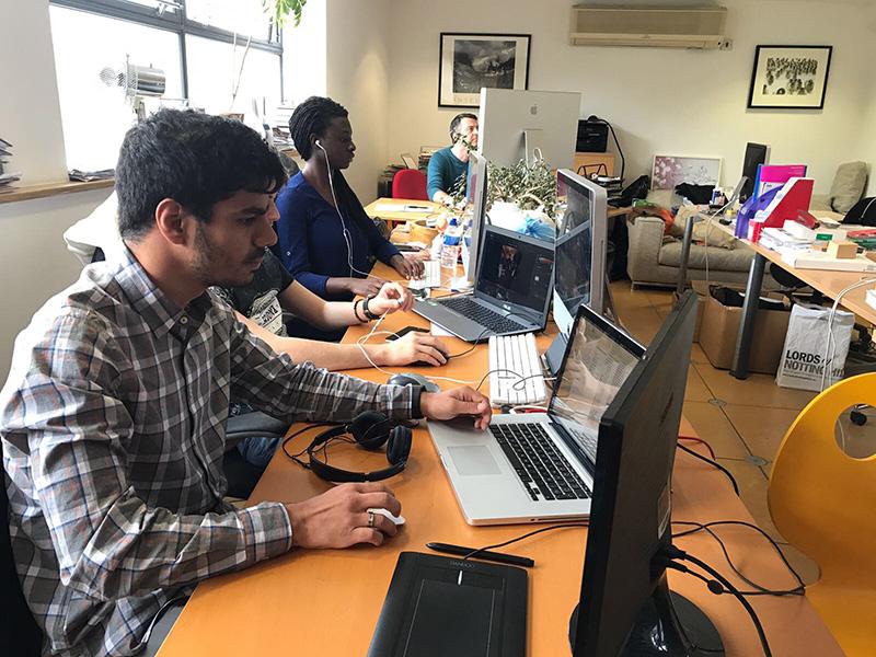 alumnos de eisv de prácticas Erasmus en Londres